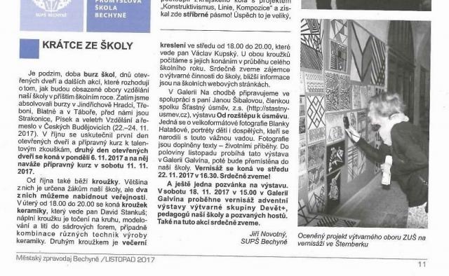 Bechyňský zpravodaj 11/2017 - upoutávka na výstavu